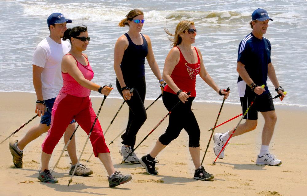 Nordic Walking In Groups