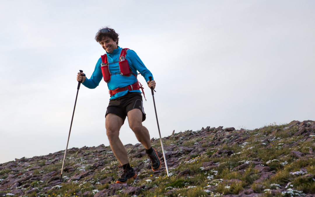 Running Downhill With Poles